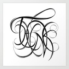 Think Art Print