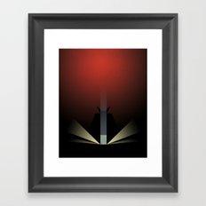 Smooth Minimal - A viking with a very big hammer Framed Art Print