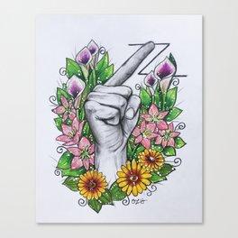 """Z"" ASL alphabet series Canvas Print"