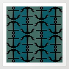 Ocean Anchors Art Print