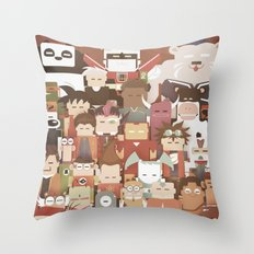The Nick Yorkers family portrait  Throw Pillow