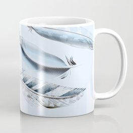 Cosmic Feathers Blue Dust Coffee Mug