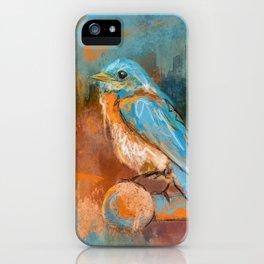 A Splash Of Bluebird iPhone Case