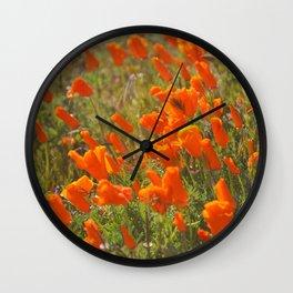 Golden Buds Wall Clock