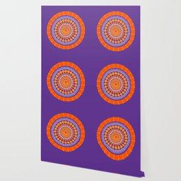 Rough Orange Mandala Wallpaper