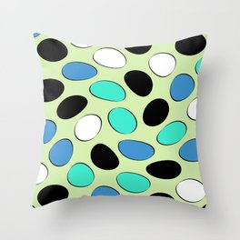 Polka Dotts Colorful Pattern Throw Pillow