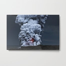 Kilauea Volcano at Kalapana 2 Metal Print