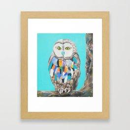 Imaginary owl Framed Art Print