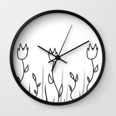 Simple Flower Wall Clock