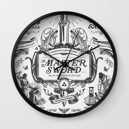 Legend of Zelda Vintage Master Sword Advertisement Wall Clock