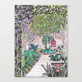 Val's Beautiful Garden Canvas Print