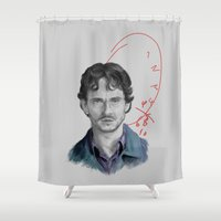 will graham Shower Curtains featuring Hannibal - Will Graham by firatbilal