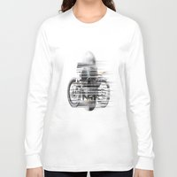 cafe racer Long Sleeve T-shirts featuring SKULL AND CAFE RACER by Joedunnz