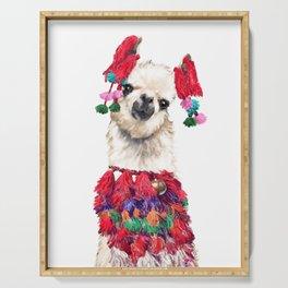 Coolest Llama Serving Tray