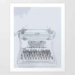 Typed Out Art Print