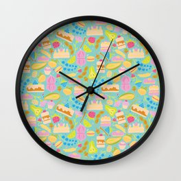 Baking pattern Wall Clock