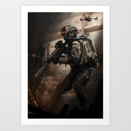 Diamondback Recon Art Print