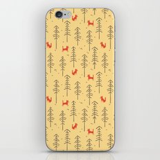 Fox hiding in the forest iPhone Skin
