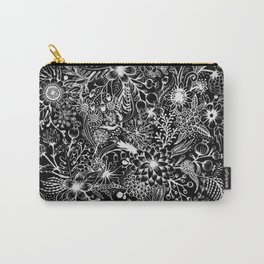 Flowers in White Carry-All Pouch