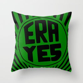 ERA YES - Green and Black Throw Pillow