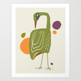 Quirky Brolga Art Print
