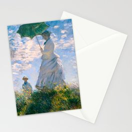Woman With A Parasol Claude Monet Stationery Cards