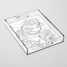 Sea Serpent - ink Acrylic Tray