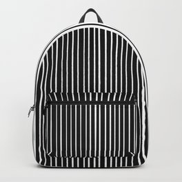 Stripe Half Black Half White Backpack