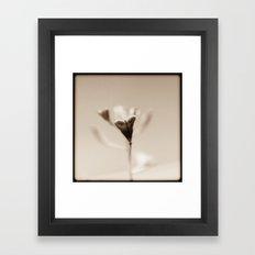 Minimal heart Framed Art Print