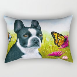 Boston Terrier Dog Rectangular Pillow