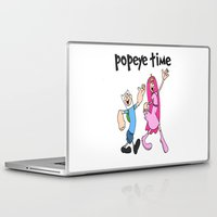 popeye Laptop & iPad Skins featuring popeye time by Chiaris