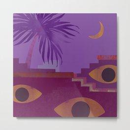 Tropical Tunisia Boho Collage Metal Print