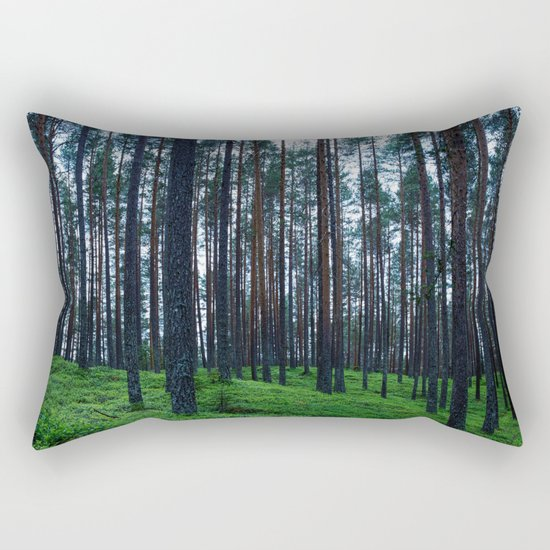 Into the woods I go  Rectangular Pillow