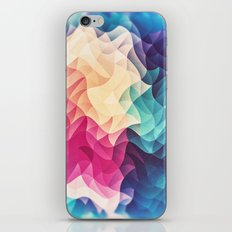 Geometry Triangle Wave Multicolor Mosaic Pattern - (HDR - Low Poly Art) iPhone Skin