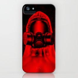 Toxic environment RED / Halftone hazmat dude iPhone Case