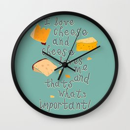 I love Cheese Cheese loves Me Wall Clock