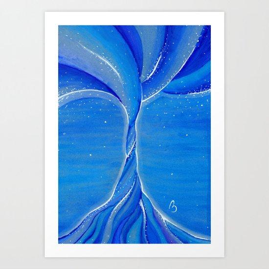 Tree of the Night Sky Art Print