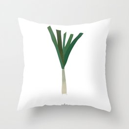 Minimalistic Scallions Art Print Throw Pillow
