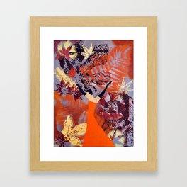 Dancing Leaves Framed Art Print