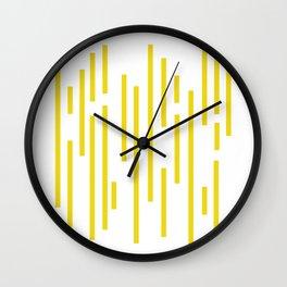 Minimalist Lines – Yellow Wall Clock