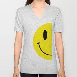 Half Smile (Right) Unisex V-Neck