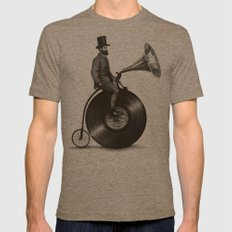 Music Man MEDIUM Mens Fitted Tee Tri-Coffee
