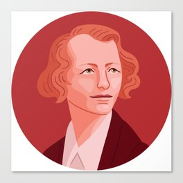 Queer Portrait - Edna St. Vincent Millay Canvas Print