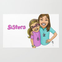 sisters Area & Throw Rugs featuring Sisters by Dan Paul Roberts