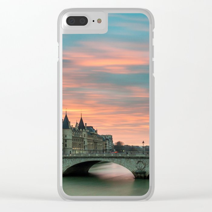 Paris by night France Clear iPhone Case