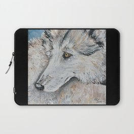 Timber Wolf in Blue Laptop Sleeve