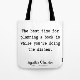 8  | Agatha Christie Quotes | 190821 Tote Bag
