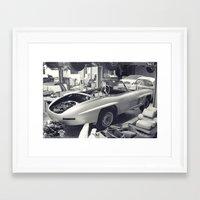mercedes Framed Art Prints featuring mercedes-benz 300SL by Sural Mustafa