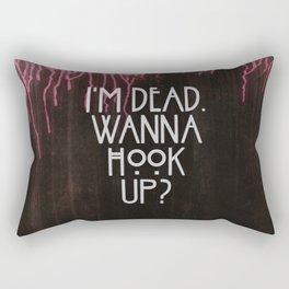 I'm dead. Wanna hook up? Rectangular Pillow