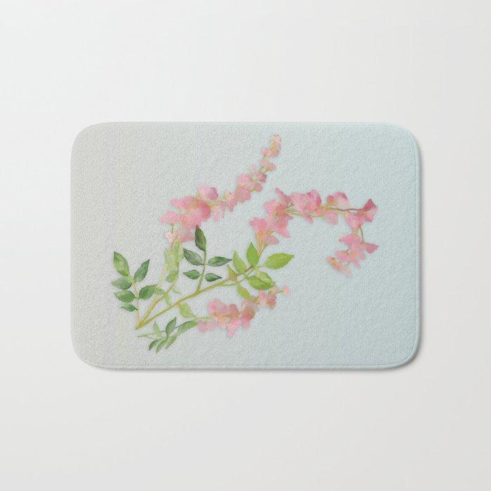 Pink Tiny Flowers Bath Mat